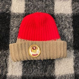 Vtg 70s San Francisco 49ers knit beanie toque hat